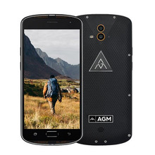 New AGM X1 IP68 Waterproof Phone Qualcomm Octa Core 4GB RAM 64GB ROM 5400mAh Battery OTG Double Camera Fingerprint Smartphone