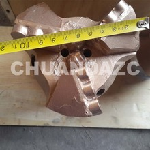 112mm PDC cutters 3 drag drill bit for mining and well drilling/pdc cutter coal mining step drag bit(China)