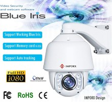 Blue Iris CCTV Camera 2016 20X Optical Zoom IR 150M High Speed Dome Full HD1080P Auto Tracking PTZ IP Camera with wiper