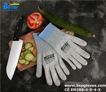 Glass Handing Safety Glove Butcher Labor Glove Kitchen Food Glove HPPE Cut Resistant Work Glove