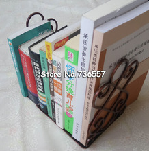 Iron crafts /metal book holder stand decorative bookend portable read book stand / books carriage Home furnishings(China)