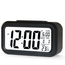 2017 Hot Sale Clock Digital LED Snooze Electronic Alarm Clock Backlight Time Calendar Thermometer 6 Colors LED Table Clock