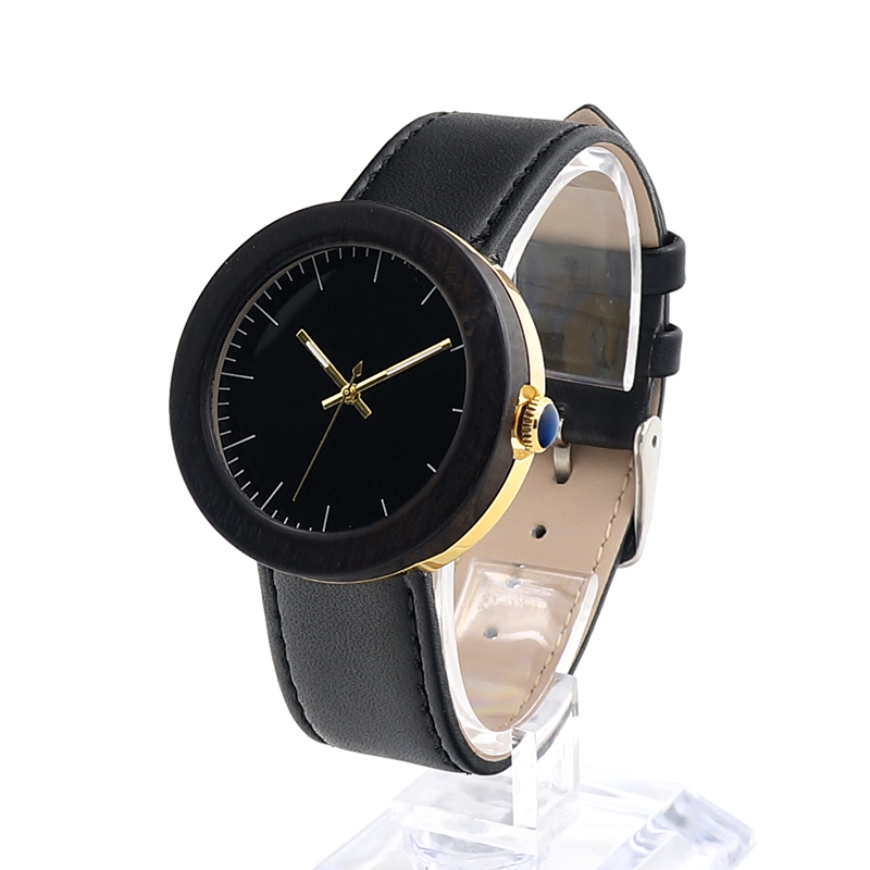 BOBO BIRD Brand Wood Watch With Genuine Leather Band !