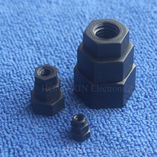 1Pcs M2 M2.5 M3 M4 M5 M6 M8 M10 M12 Black Nylon Hex Nut Hexagon Plastic Nuts ROHS Hexagonal Nuts for DIY model Make(China)