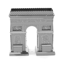 Lowest Price 3D Puzzle Stainless Steel DIY Assembly Model Building 3D Nano Dimensional Puzzle Arc De Triomphe For Kids Gift