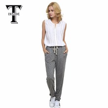 T-INSIDE 2016 Women Casual Trousers Comfortable Gray Quick Drying Fitness Pants Casual Pants(China)