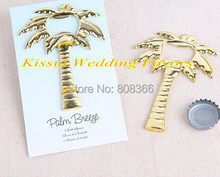 (50 pieces/lot) Unique Wedding Decorations of Palm Tree Bottle Opener wedding souvenirs for beach wedding favors Free shipping(China)