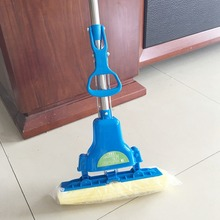 Cleaning Brush Sponge Mops Floor Cleaning Mop Folding Absorbing Squeeze Water Magic Mop Household Cleaning Tools Brush(China)