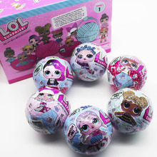 6 Pcs 1 Series LOL Surprise L.O.L. Dolls Magic Funny Removable Egg Ball Doll Educational Novelty Kids Unpacking Surprise Dolls(China)