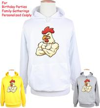 Unisex Cute Funny cartoon Farm Yard Angry Chicken Design Hoodie Men's Boy's Women's Lady's Girl's Sweatshirt Tops Printed Hoody(China)