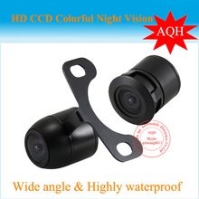 Car Rear View Reverse Backup Waterproof NTSC system CCD Camera,free shipping Wholesale,Install with 2 Options(China)