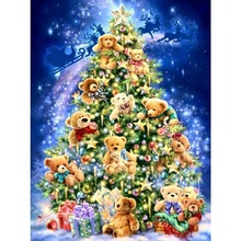 Home decoration 3D diamond embroidery Christmas Tree Bear Gift Diamond Painting Christmas Gift Rhinestones Crafts Set Embroidery
