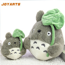 1pcs 20cm Japane Anime My Neighbor Totoro Plush Doll Stuffed Toys Totoro With Lotus Leaf Totoro Plush Toys for Kids Gifts