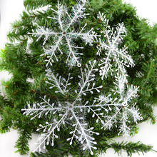 30Pcs White Snowflake 6cm Christmas Snow flakes Ornaments Holiday Christmas Tree Decortion Festival Party Home Decor