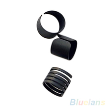 3Pcs New Fashion Ring Set Black Stack Plain Above Knuckle Ring Band Midi Rings  1OS2