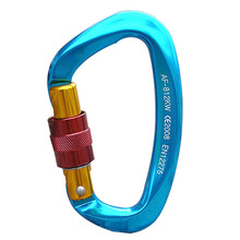 E0035 Safety Hook Ultra-Light Hot Forged Aluminum-Mg Alloy Snap Hook for Outdoor Mountaineering Rock Climbing(China)