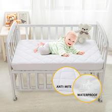 Brushed Fabric Quilted Anti-mite Mattress Protection Cover Breathable Waterproof Cover for Baby 28*52*6inch/71*132*15cm(China)