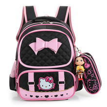 Hello Kitty School Bags For Girls Cute Waterproof backpacks Children Schoolbags Kids Bookbags Suit satchel mochila escolar(China)