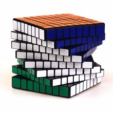 Speed Magic Cube Smooth Cubo Magico Professional 7 8 9 Layer Black White Games Cube Puzzles Challenge Toys For Children 60K477(China)