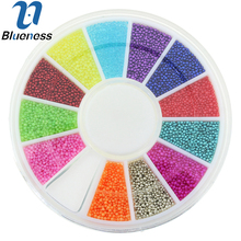 12 Color Metal Beads Studs Supplies For Nails Design 6*6cm Wheel Caviar Ball Diy Charm 3D Nail Art Rhinestones Decorations ZP224