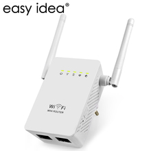 EASYIDEA Mini Wifi Router 300M Wireless Router Wifi Repeater Dual Antenna 2.4G Wifi Extender Signal Amplifer Booster 802.11b/g/n