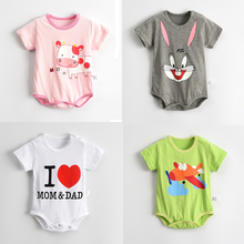 Baby Boys Girls Rompers Short Sleeve Infant Jumpsuits Summer Kids Clothing Sets Cartoon Newborn Baby Clothes for 0-12 Month