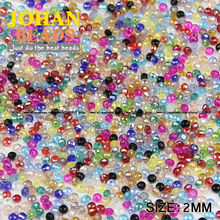 JHNBY Flat Round Shape Upscale Austrian crystals 2mm 200pcs loose beads color ball supply bracelet necklace Jewelry Making DIY()