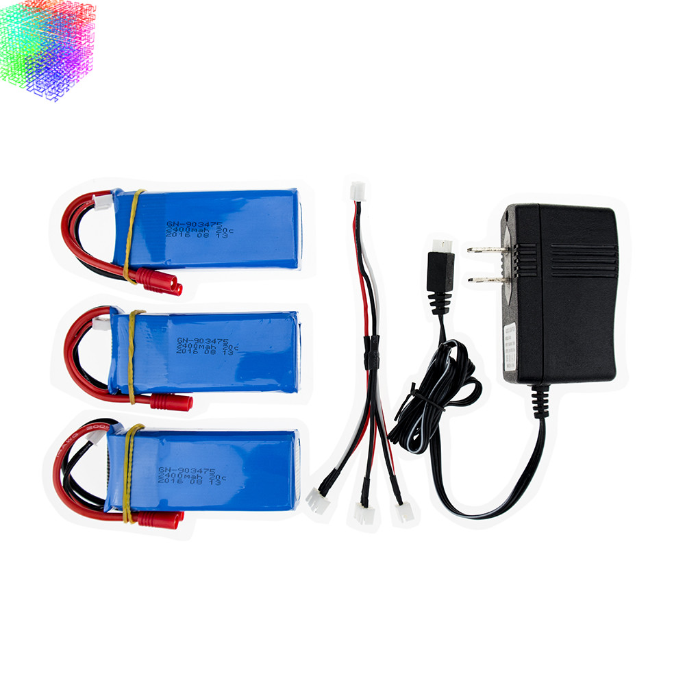 X8C Lipo battery 7.4v  2400mah batteies 3pcs and charger for syma X8W X8G rc Quadcopter drone spare part wholesales<br>