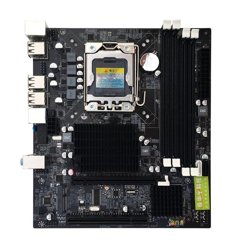 Интернет магазин товары для всей семьи HTB1sUDhax2rK1RkSnhJq6ykdpXah X58 рабочего Материнская плата LGA 1366Pin DDR3 компьютер материнская плата для L/E5520 X5650 RECC для Intel Core i7 M-SATA 1333 МГц