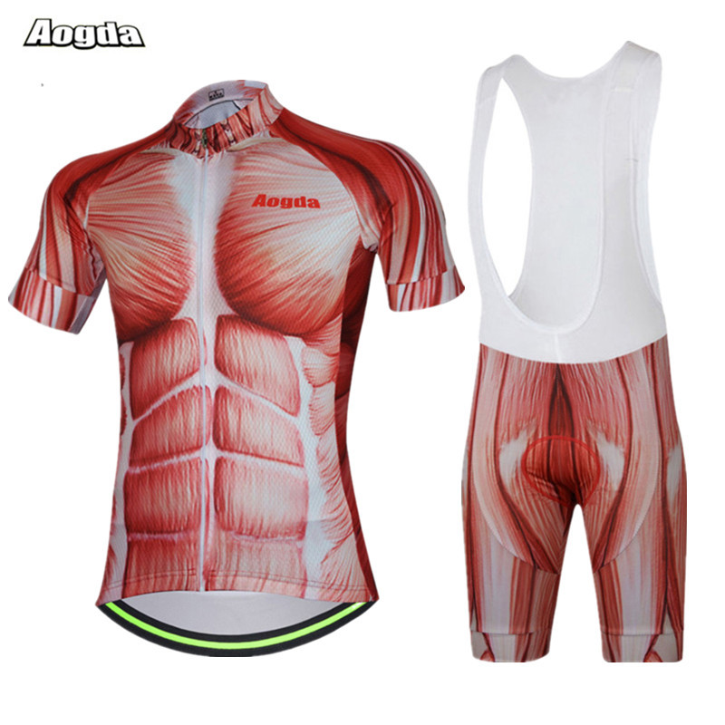 Aogda Cycling Jersey Men 2018 Muscle Bicycle Cycling Clothing Summer Short mtb Bike Jersey Ropa Ciclismo Breathable Cycling Wear<br>