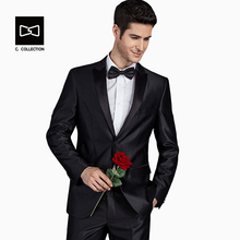 2017 Men Groom Wedding Suit Slim fit formal men suit Latest Coat Pant Designs Fashion Dress Luxury Tuxedo Men Blazers 2 Pieces(China)