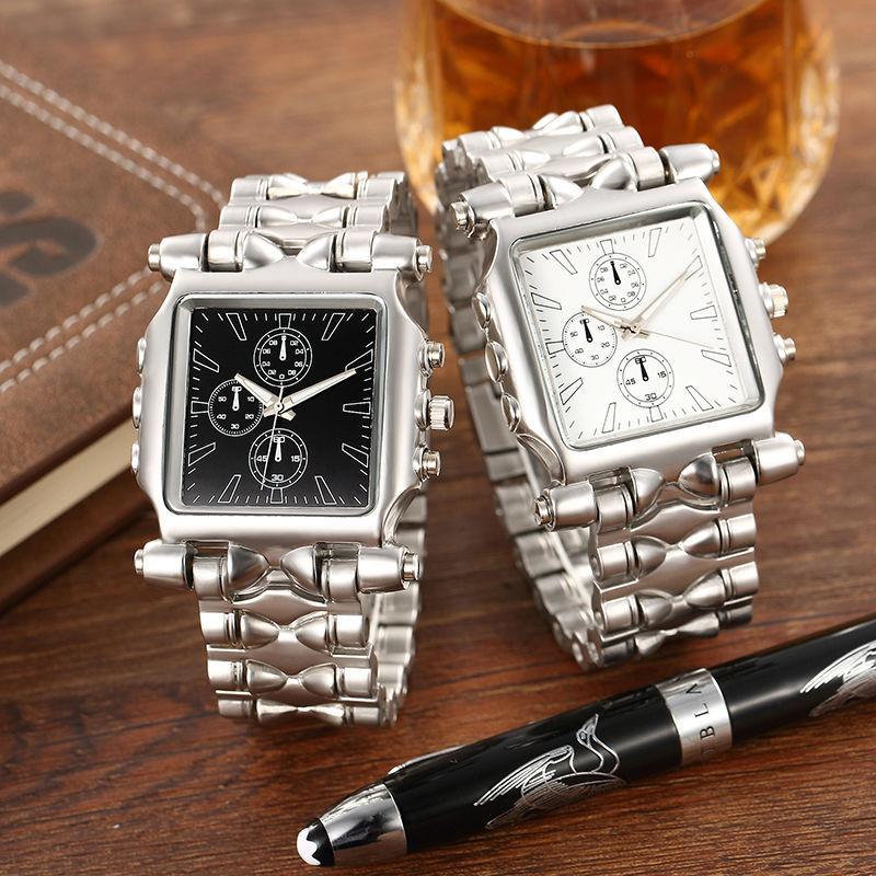 1pc Square Fashion Quartz Wristwatch Full Steel Top Men male boy Wristwatch clock Army Military Sport Watch stainless steel X3<br><br>Aliexpress