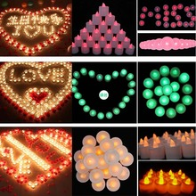 Mini LED Cup Candle Light Wedding Event Marriage Anniversary Tealight Votive Candle With Holder -- M09