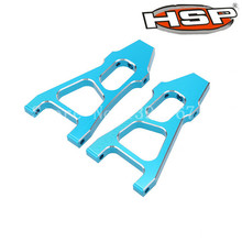 HSP Upgrade Parts 188019 (08037) Blue Aluminum Front Lower Suspension Arm 2P For 1/10 Off Road Monster Truck 94188 RC Car(China)
