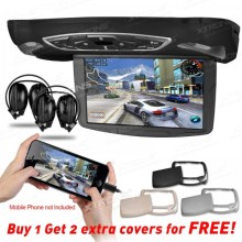 "10.1"" HD Digital TFT Flipdown Roof Mounted car DVD Player with HDMI Input +  2 IR Free Headphones"