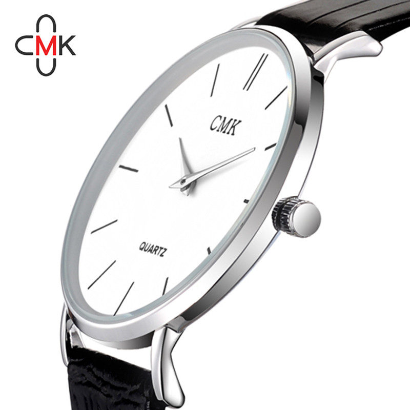 Watches Reasonable Creative Unisex Leather Strap Watches Men Luxury Brand Men Watch For Lovers Black White Lady Quartz Women Dress Clock As Gift
