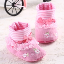 Best Quality Girl Socks Shoes Baby Boots Pink Snow Boots Baby Shoes Nonslip Soft Bebe 2014 New Winter First Walkers