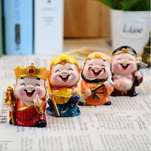 3D Resin Doll Priest Sanzang And His Three Disciples Journey To The West, Chinese Souvenir Resin Crafts A Set of 4pcs