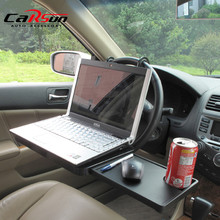 Portable Foldable Car Laptop Stand Foldable Car Seat/Steering Wheel Laptop/Notbook Tray Table Food/drink Holder Stand SD-1504(China)