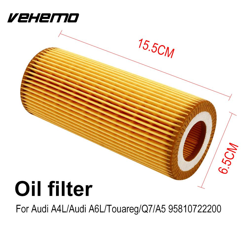 Vehemo 95810722200 Car Oil Filter Lubricating Oil Filter Fits Multiple Models Auto Oil Filter Replacement Smooth