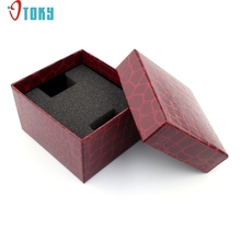 Watch Willby 1pc Red Aligator Pattern Durable Present Gift Boxes Case For Bracelet Bangle Jewelry Watch Box 170106 Drop Shipping(China)