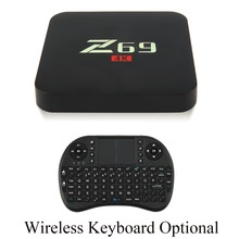 Z69 S905X Cortex A53 Processor 1+16GB Memory Wifi Bluetooth 4.0 Home TV Box Top For Android Entertainment Player Black