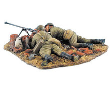 Unpainted Kit 1/35 Russian PTRD-41 Anti-Tank Rifle Team figure Historical WWII Figure Resin Kit Free Shipping(China)