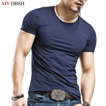 New 2019 Fashion Casual Men Compression Short Sleeve O 넥 피트니스 꽉 T Shirts 탑 Men's Summer 티 Shirts 큰 Yards S-5XL(China)