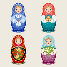 30*30cm NEW Russian Dolls 5D DIY Diamond Painting Cross Stitch Square Drill Home Decoration Mosaic Diamond Embroidery Craft