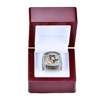 wooden box with 2016 Pittsburgh Penguins Stanley Cup Championship ring Size 6-14 for Dropping shipping business(China)