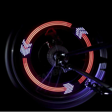 DONSUNG 14 LED Cycling Bicycle Wheel Signal Tire Spoke Light 30 Modes Colorful Bicycle Light Bicycle Accessories Cycling Light(China)