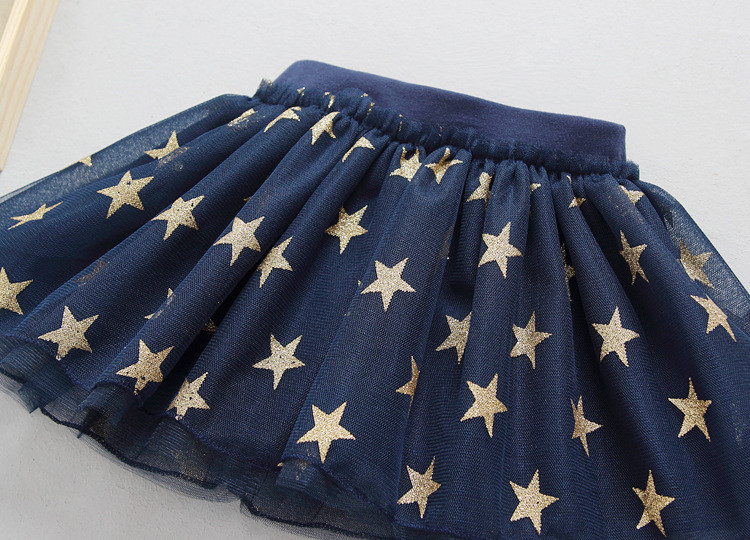 Fanfiluca New Baby Girl Clothes Tutu Skirt Ballerina Pentagram Children Ballet Skirts Party Dance Princess Girl Tulle Miniskirt011