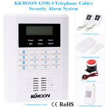 KKMOON 433MHZ Wireless GSM PSTN SMS Home Burglar Security Secure and Reliable Alarm System Detector Sensor Kit Remote Control