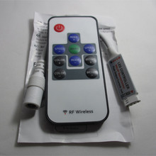 10-Button 12V-24V 12A / 3 CH RF Wireless Mini Controller for LED RGB Strip(China)
